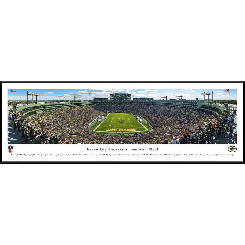 Green Bay Packers 40 25 X 13 75 End Zone Standard Framed Panoramic Photo Nfl Green Bay Packers Football Green Bay Packers