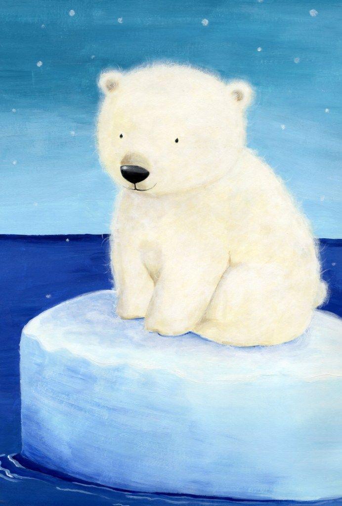 Белый медведь и медвежонок картинки для детей