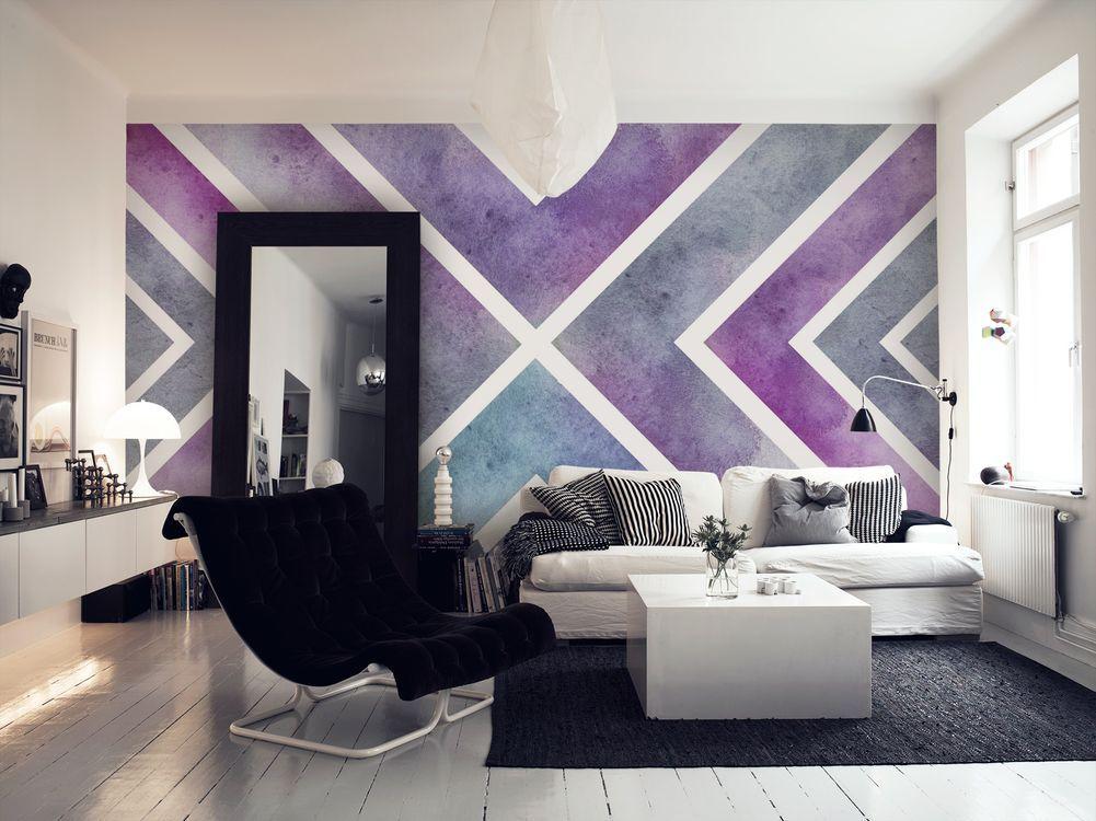 Purple X Wall Mural  Sjour Peinture Et Dco