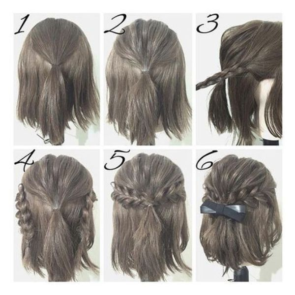 Wedding Hairstyle Lob: LOB Hairstyle Half Updo In 2019