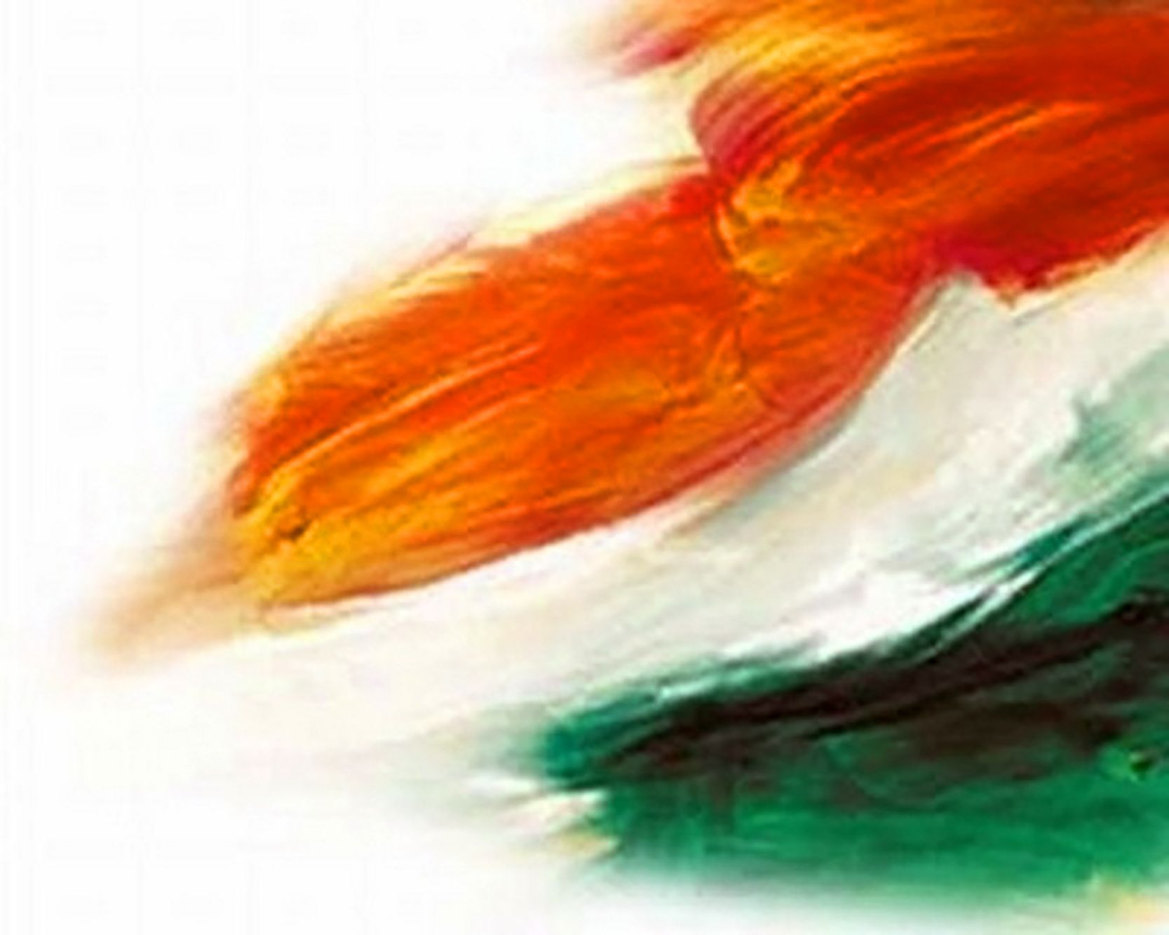 Creative Watercolor Indian Flag Background For Indian: Indian Flag Colors