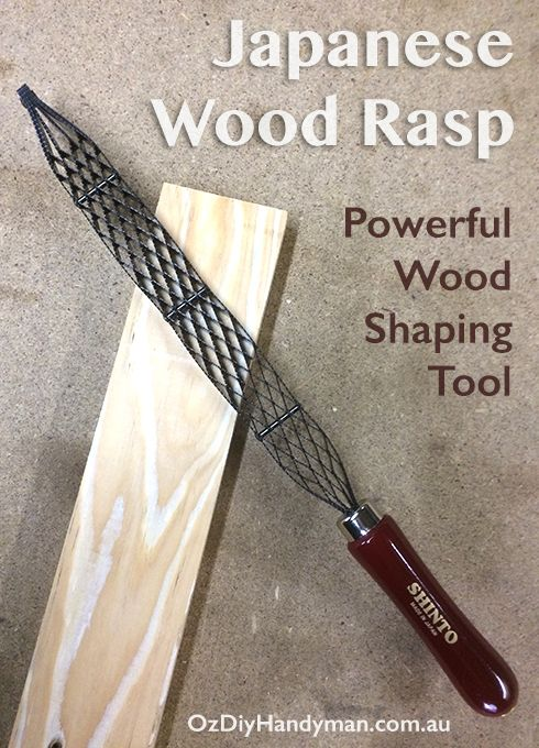 Wood Rasp file  Product review of the Shinto Rasp Saw  A