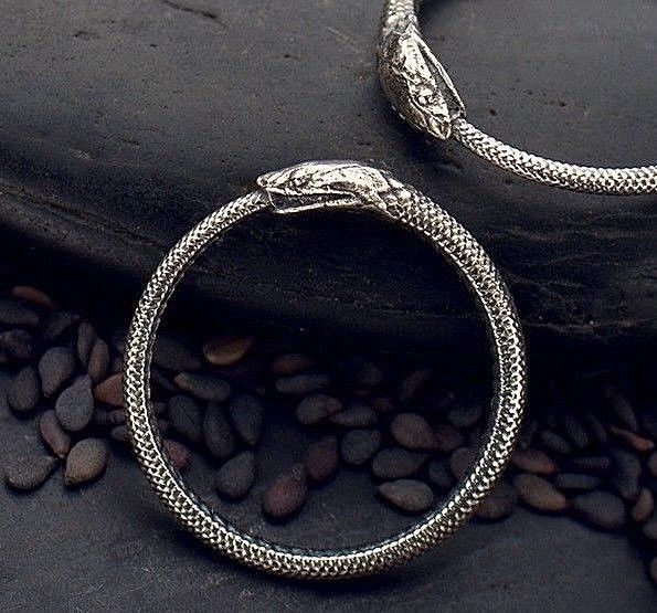 925 Sterling Silver Ouroboros Snake Ring Ancient Symbol Serpent