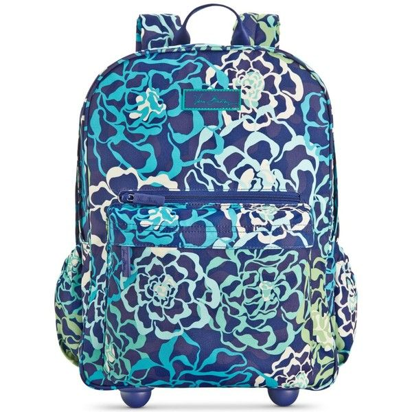 Vera Bradley Lighten Up Rolling Backpack ( 128) ❤ liked on Polyvore  featuring bags, backpacks, katalina blue, roll up bag, blue bag, roll bag, vera  bradley ... 026067a5e9