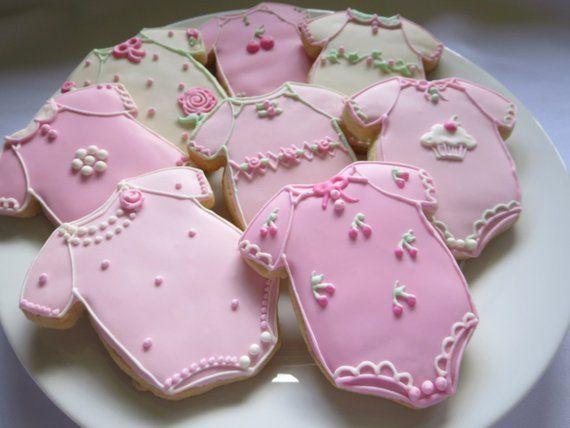 Baby Onesie Sugar Cookies Set Of 12 Cookies Can Be Made In The
