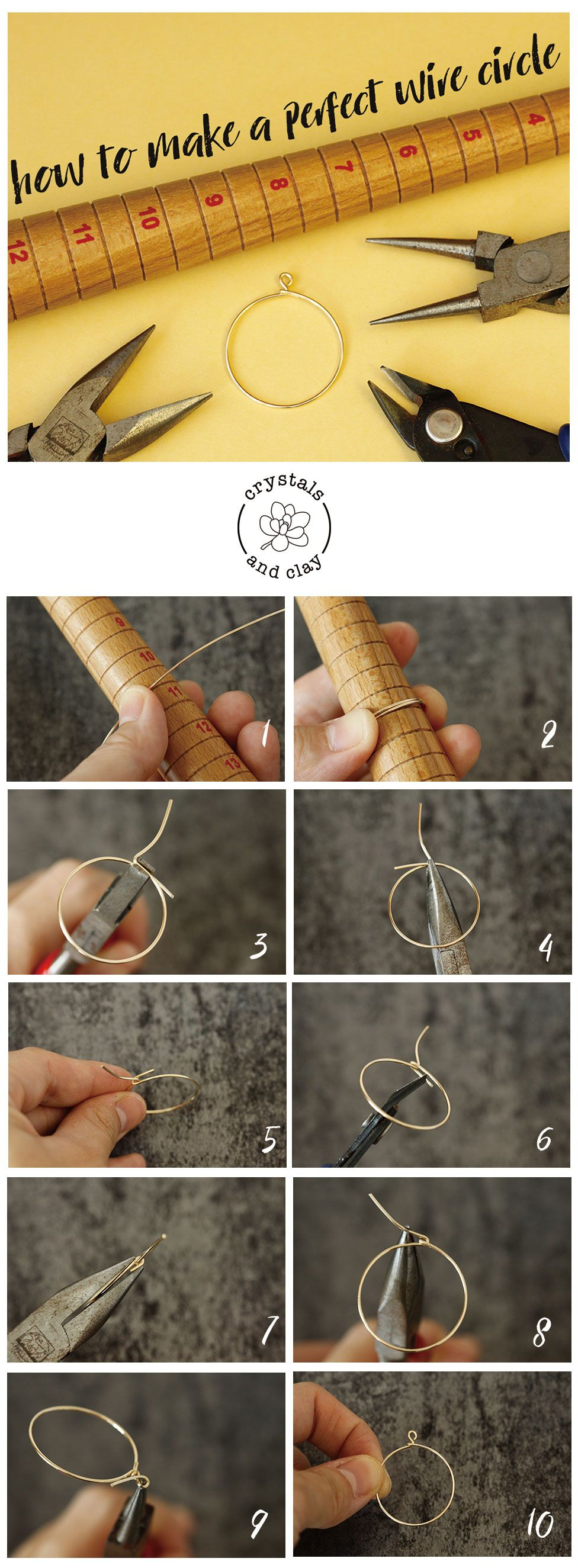 Photo of how to make wire wrapped circle