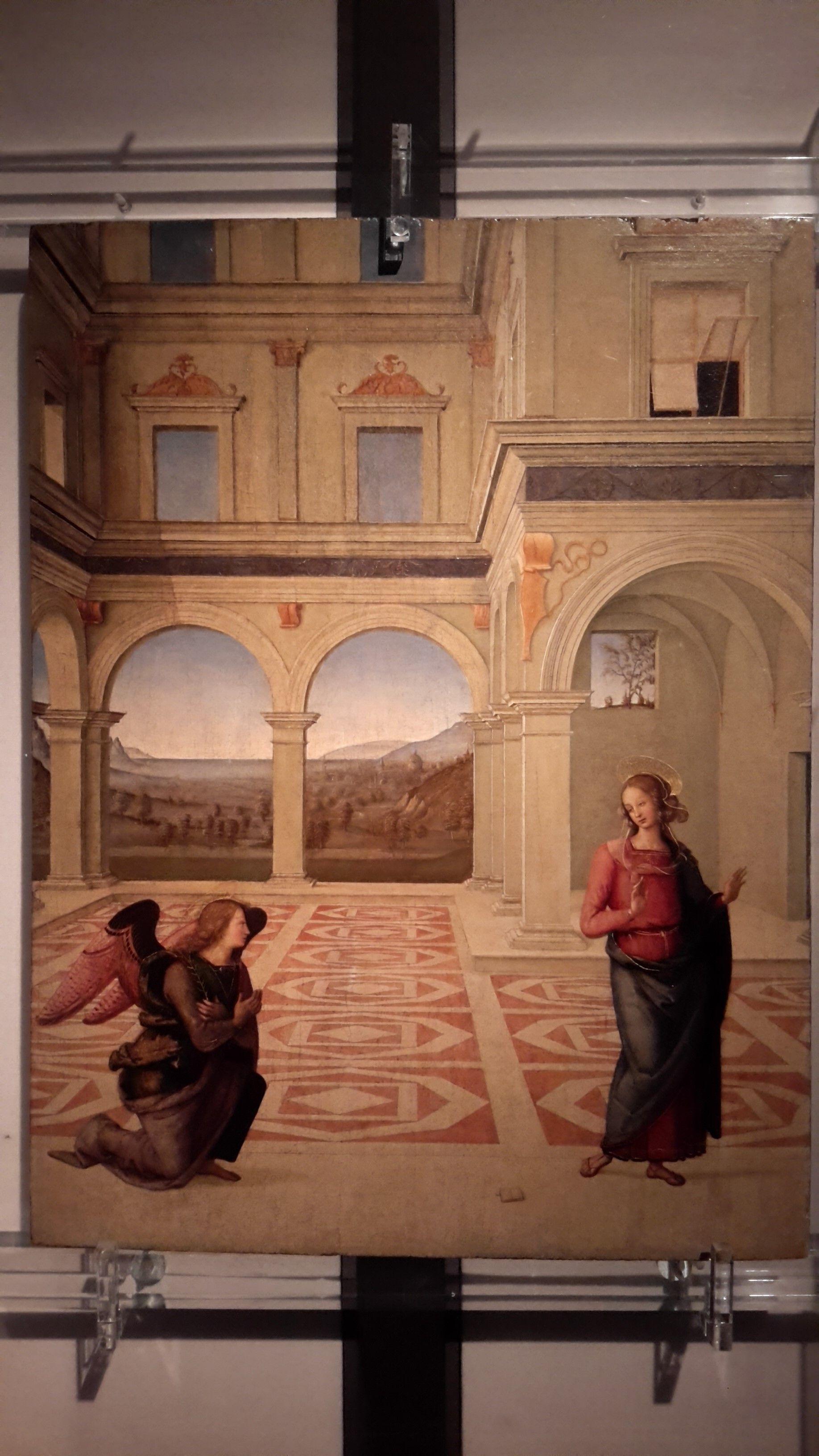 Perugino, L'Annunciazione, 1498 ca, Collezione privata - Galleria nazionale dell'Umbria