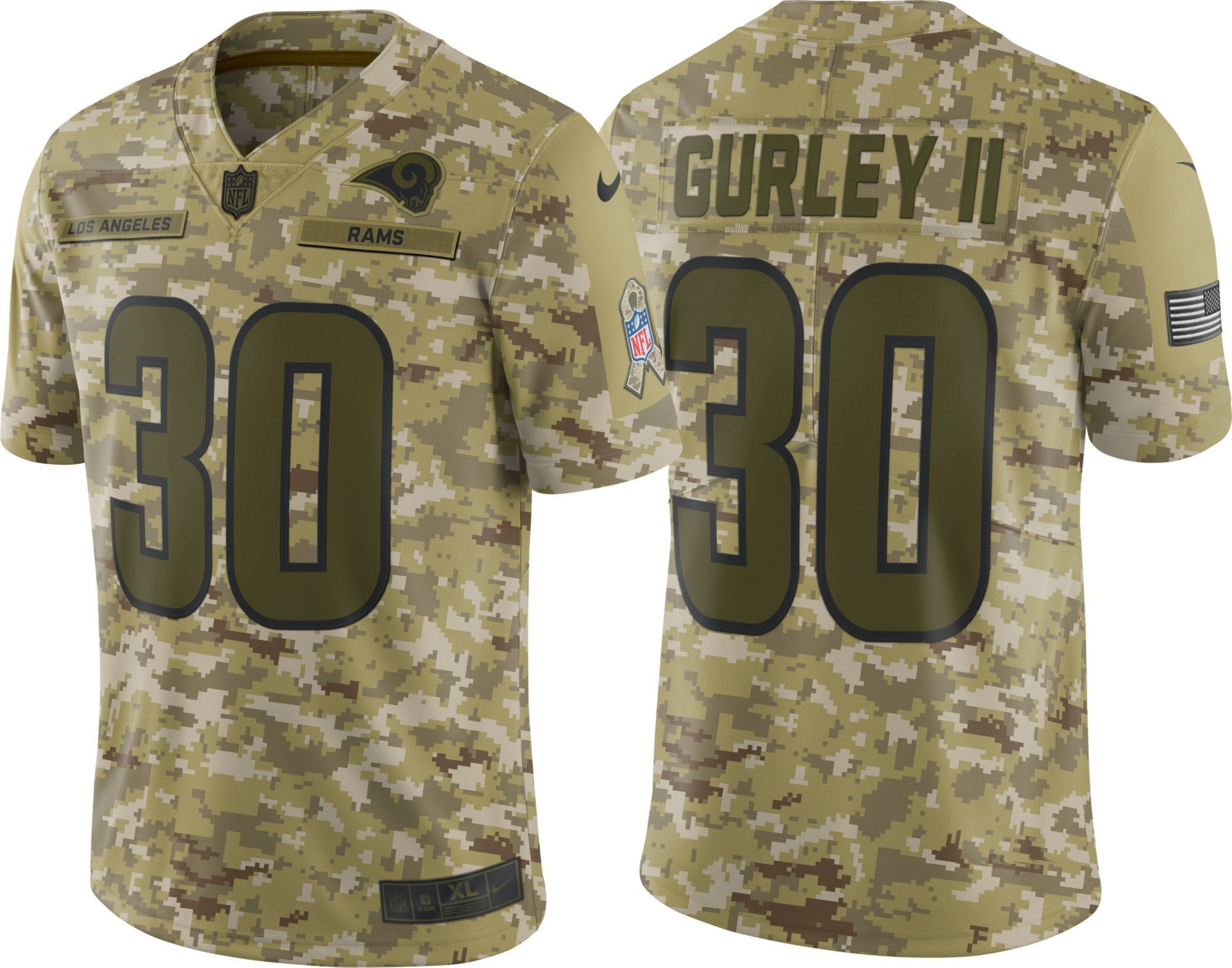pretty nice 94d18 bfd3a Nike Men's Salute to Service Los Angeles Todd Gurley #30 ...