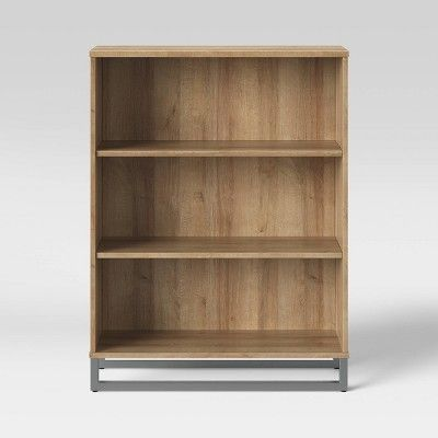 Mixed Material 3 Shelf Bookcase Natural Room Essentials In 2020 Bookcase Shelves Room Essentials