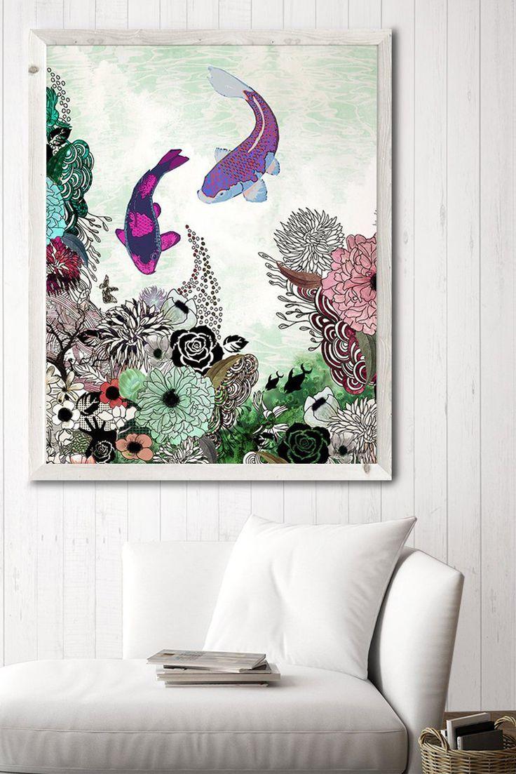 Large fish art fish print large wall art fish wall art large