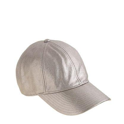 silver baseball cap charm quicksilver caps metallic canvas sequin