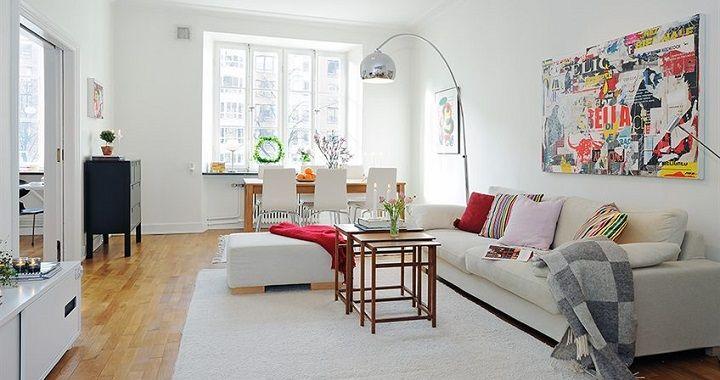 fotos estilo nordico Livings Pinterest Alfombra blanca, Estilo
