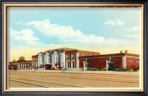 The beautiful (former) Union Pacific train station in Grand Island, Nebraska.