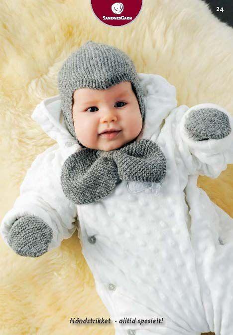 Dagens oppskrift: Lue, skjerf og votter til baby | Strikkeoppskrift.com