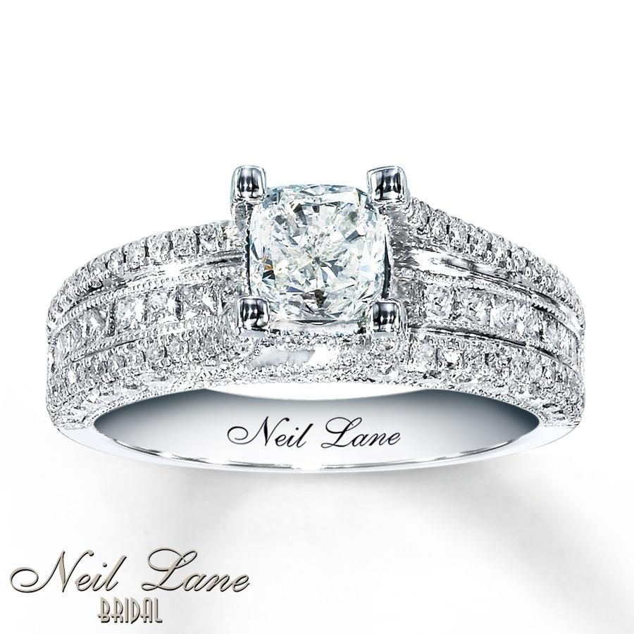 cushion cut diamond engagement rings jared 5 - Wedding Rings Jared