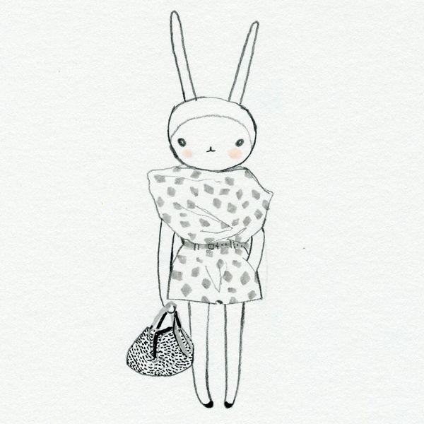 Fifi Lapin with Bottega Venetta bag