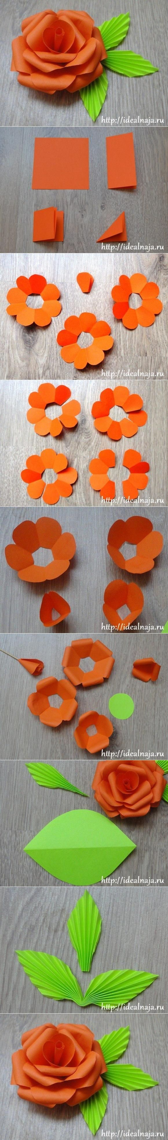 Diy Easy Paper Rose Flori Pinterest Easy Craft And Flowers