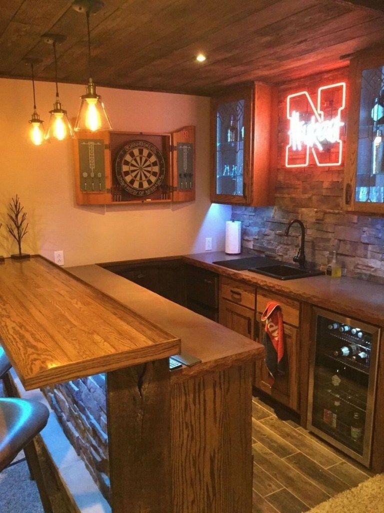 41 Magnificent Basement Bar Ideas For Make You Having Fun