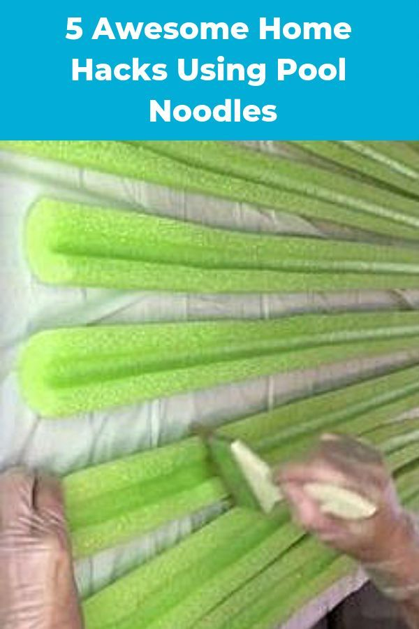 5 Easy Dollar Store Home Hacks Using Pool Noodles