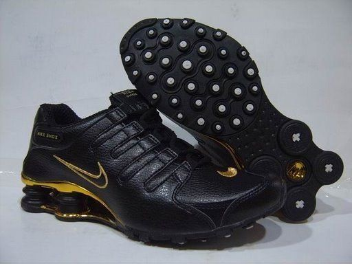 new product 12455 6f6ab Only 71.06  NIKE SHOX NZ BLACK BRIGHT GOLD Free Shipping!