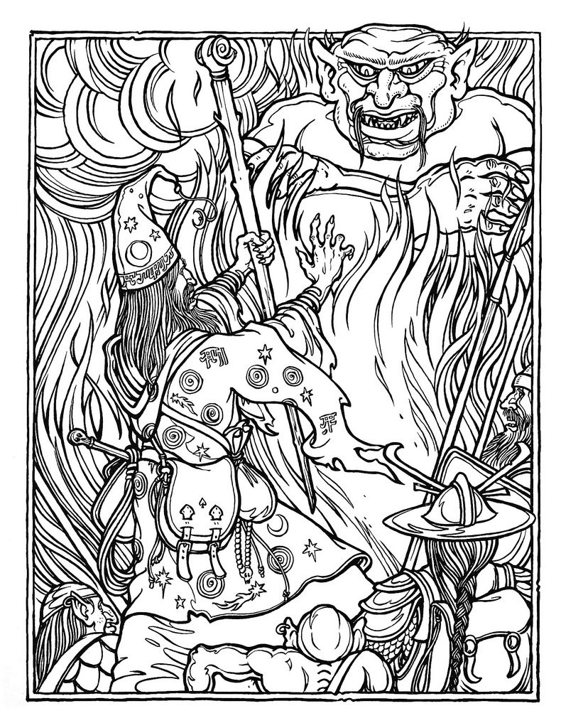 Free Advanced Coloring Pages Greg Irons  The Official Advanced Dungeons And Dragons Coloring
