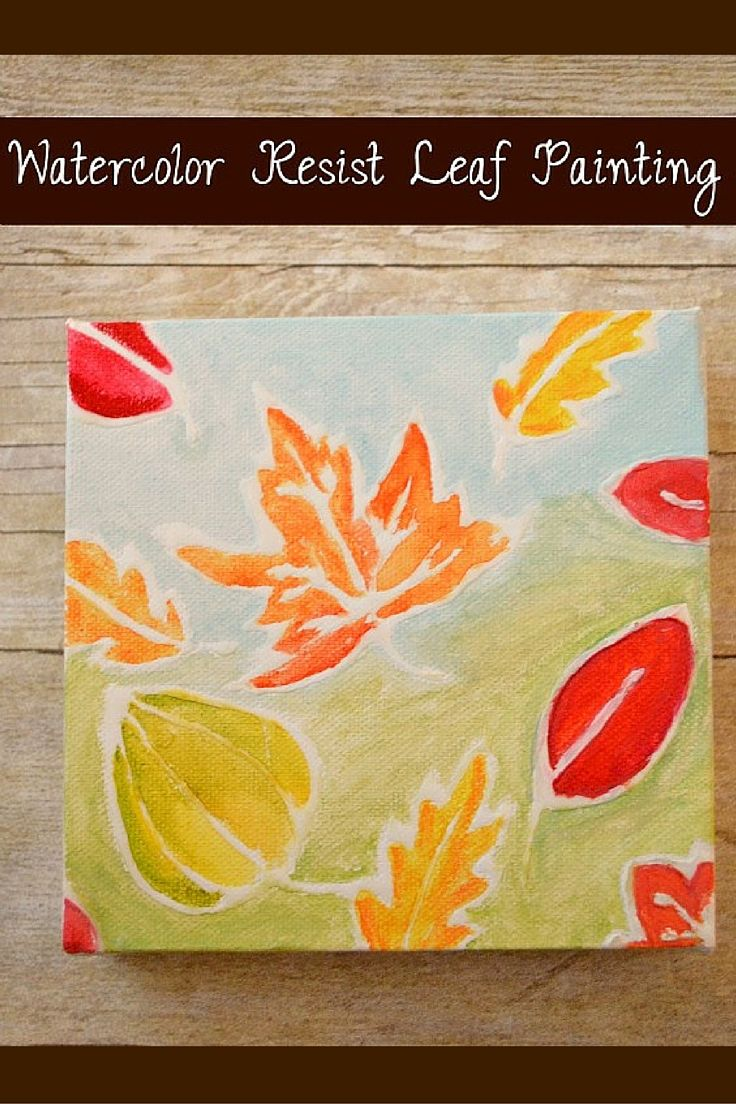 DIY Watercolor Resist Leaf Art. Create rustic wall decor using ...