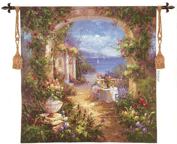 Mediterranean Arches Ll Fine Art Tapestries Tapestry Wall Tapestry