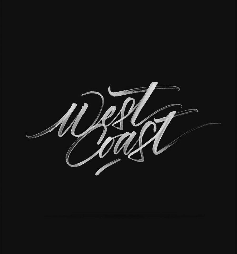 T shirt design inspiration typography - West Coast Brush Letteringhand Letteringdouble Daretypography Inspirationwest Coastlogo Designminimalistdrawing