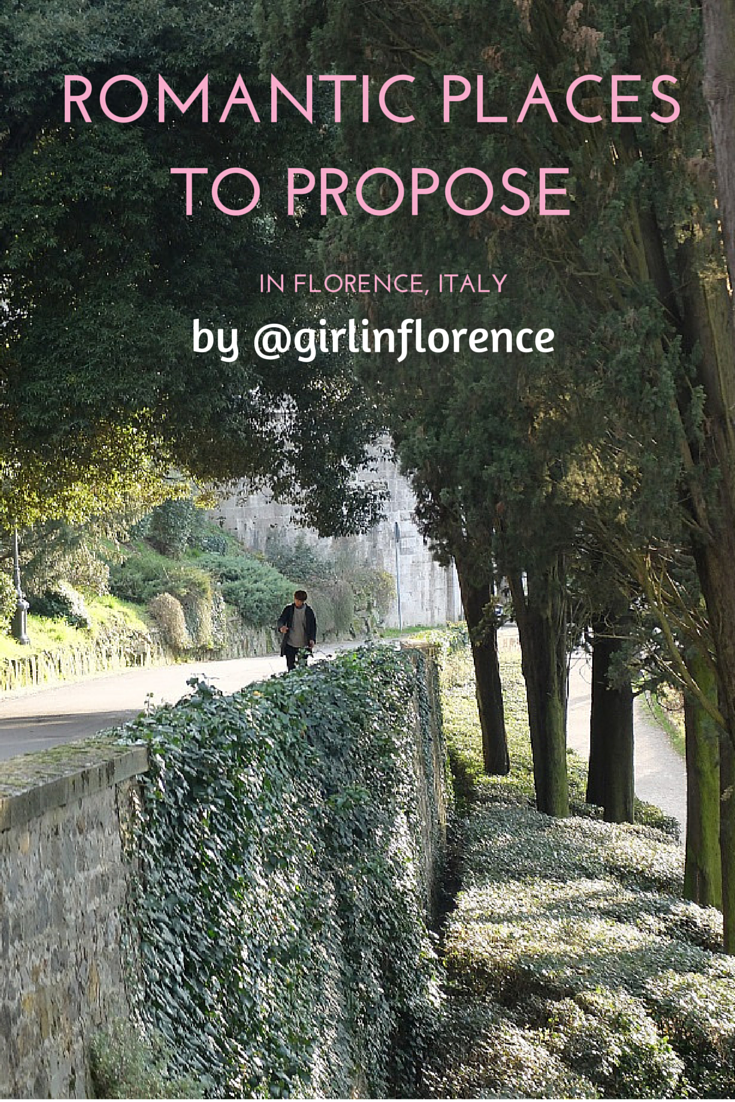 Romantic places to propose in Florence, Italy | @girlinflorence