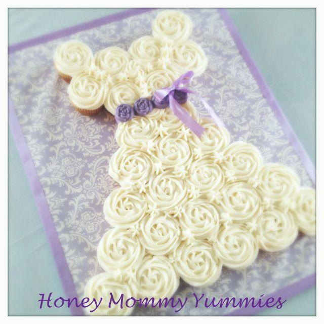 Wedding Dress Cupcake Cake | My Yummies | Pinterest | Wedding dress ...