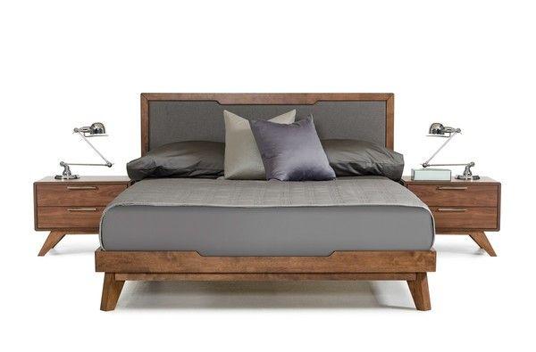 Nova Domus Soria Modern Grey Walnut Eastern King Size Bed Frame
