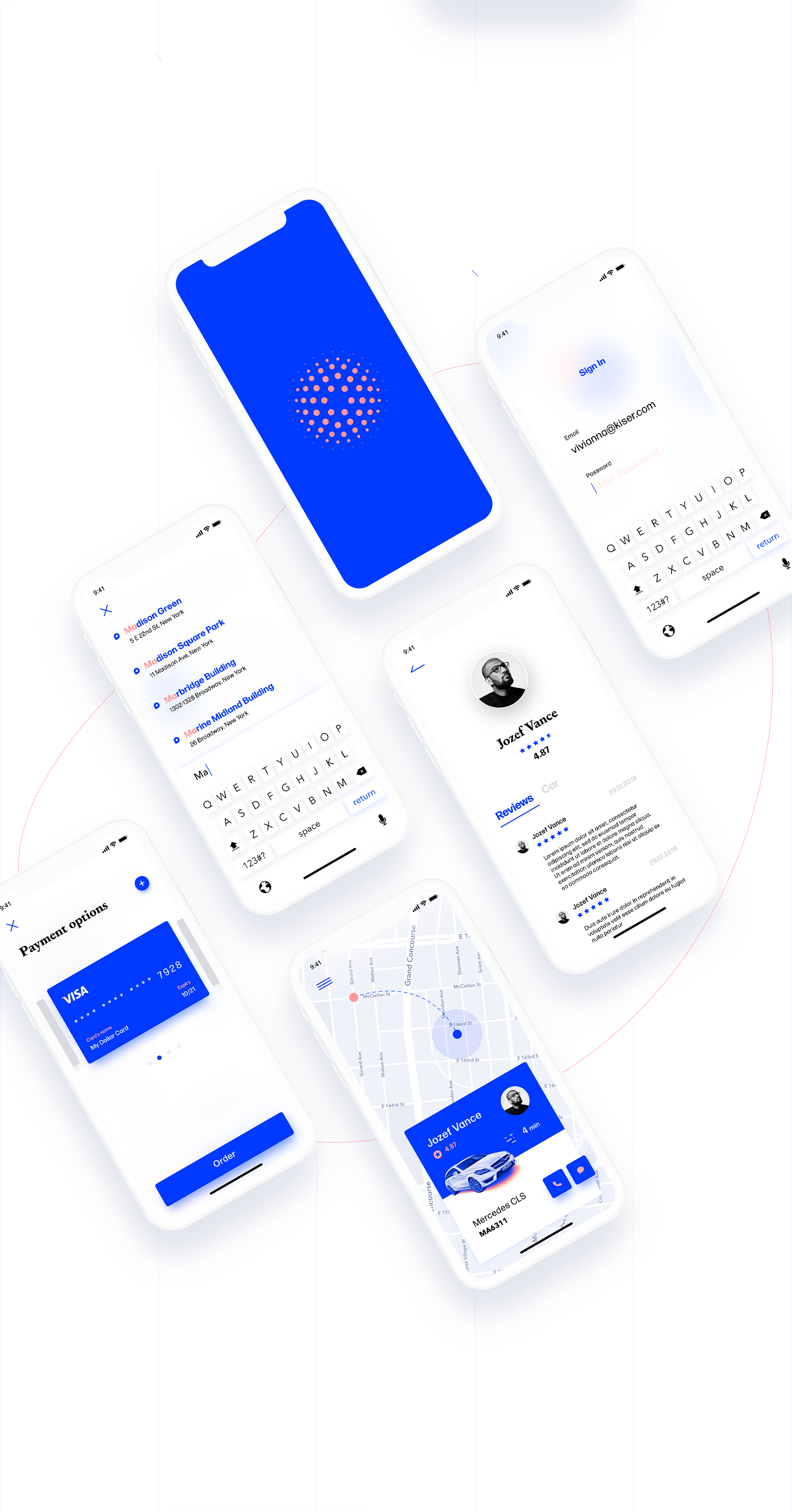 Mobile App Design NYC Taxi App Concept using Adobe XD(이미지