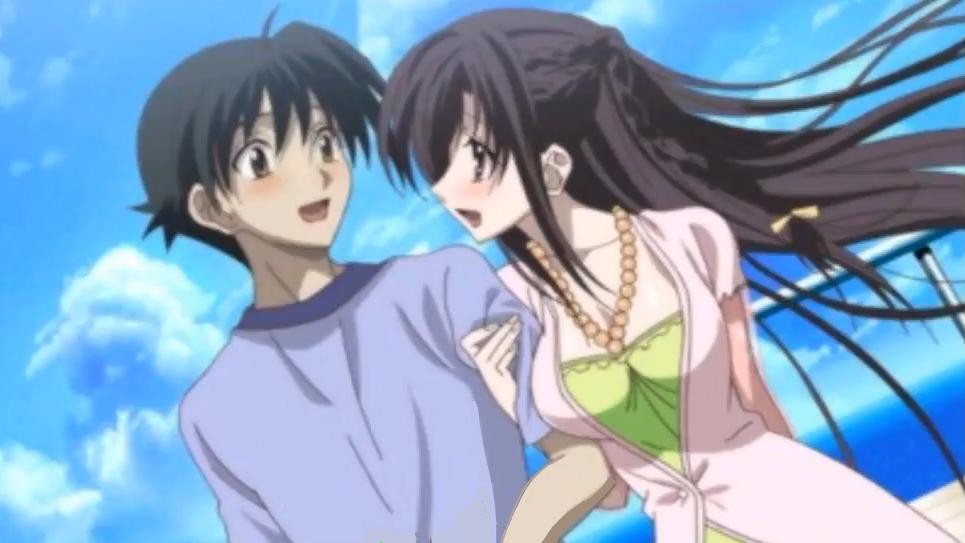 Makoto & Kotonoha Island Days Screenshot Arte de anime