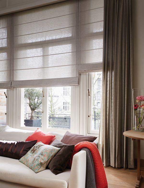 Luxaflex® Vouwgordijnen geven een warme uitstraling Woonkamer