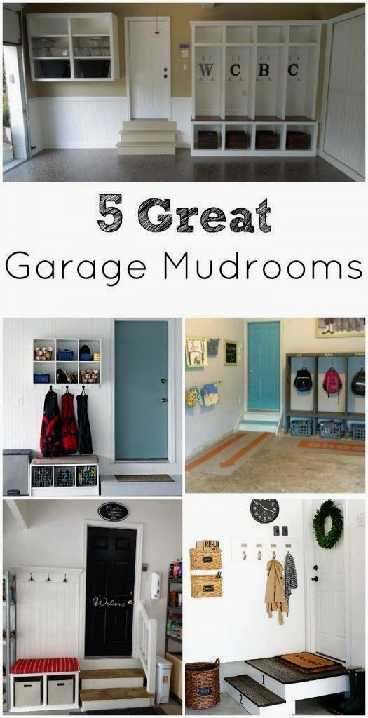 great garage mudroom ideas! Keep your family and home organized as ...