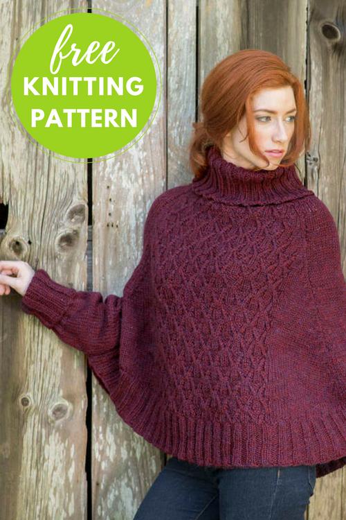 Galilee Poncho Sweater Free Knitting Pattern | Chunky yarn, Poncho ...