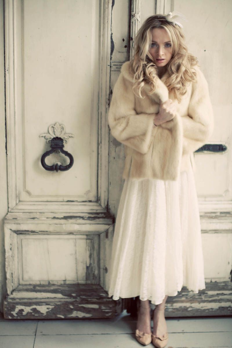 Vintage Wedding Dress And Faux Fur Coat Www Devillle Blo