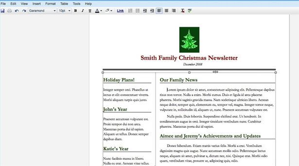 How To Create A Christmas Family Newsletter With Google Docs - How to make a newsletter in google docs