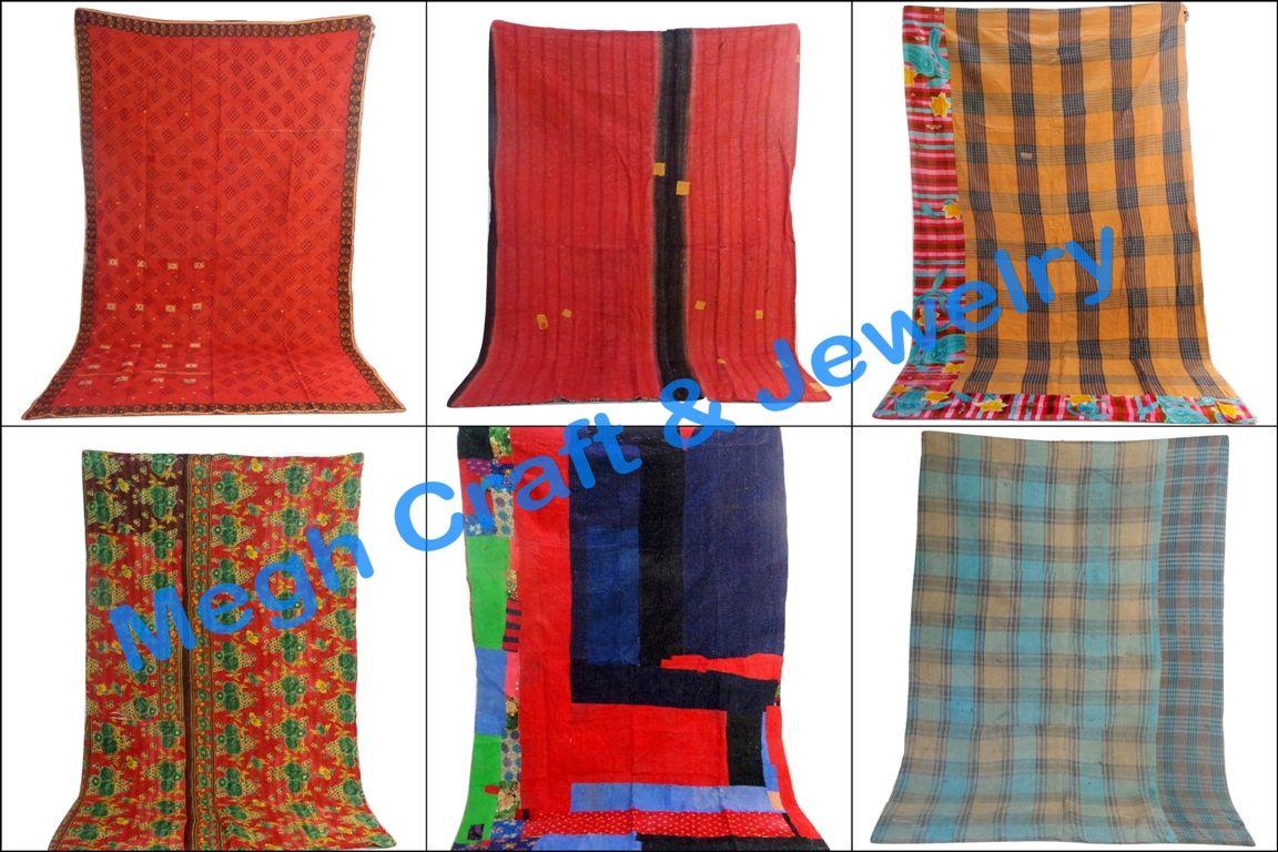Designer Reversible Kantha Quilt Retail : https://www.craftnfashion.com Whatsapp : 9375519381 E-mail : craftnjewelery@gmail.com