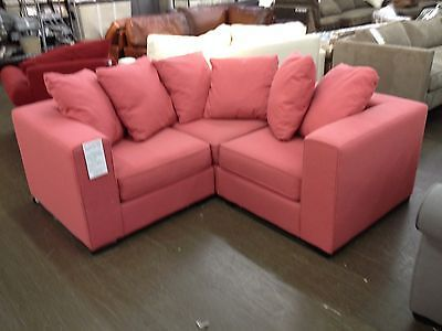 Pottery barn west elm walton sofa sectional couch apartment size lotus pink pink stuff - Apartment size living room furniture ...