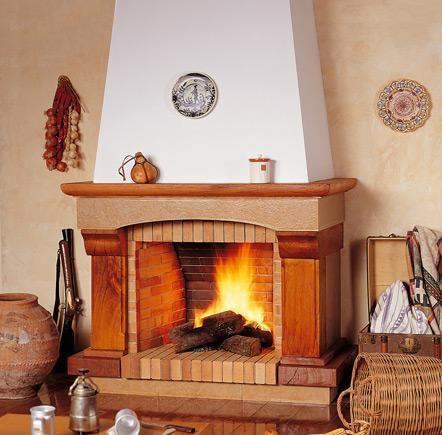 Chimenea r stica grande davos chimeneas pinterest davos - Revestimientos de chimeneas rusticas ...