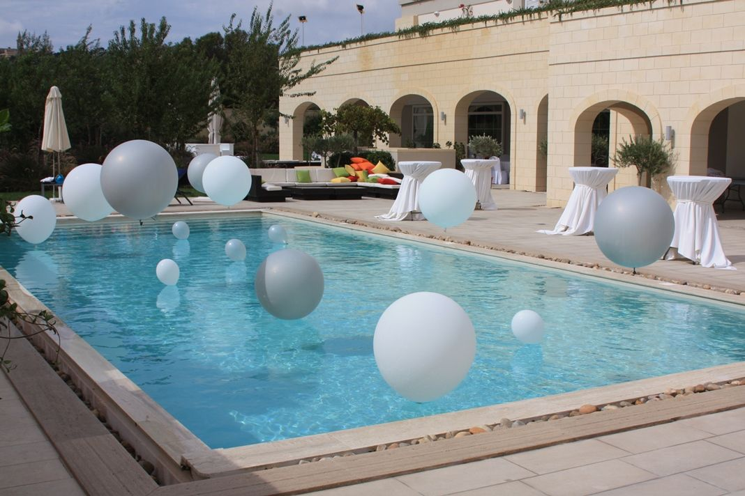 Silver White Pool Decoration Pool Wedding My Events Decoration