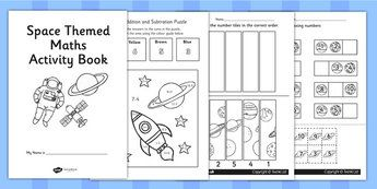 space themed ks1 maths activity book numeracy activities math math activities pinterest. Black Bedroom Furniture Sets. Home Design Ideas