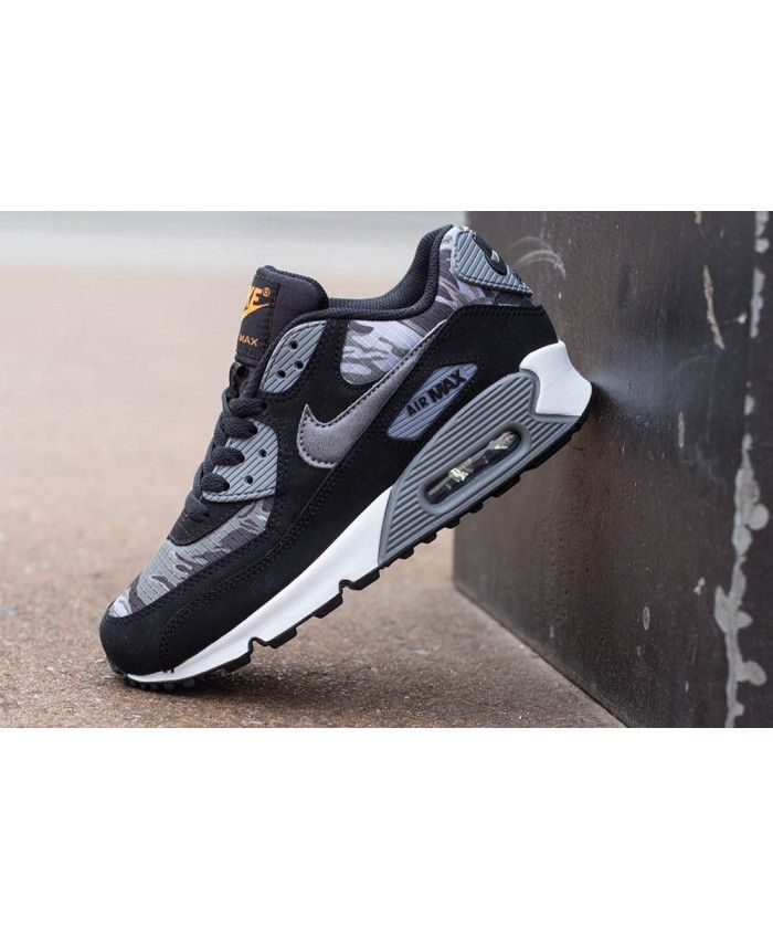 3292cd1eb1 Air Max 90 Camo Deep Grey Black Trainer Camouflage style shoes, very  dazzling and comfortable.