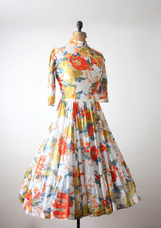 Vintage asianinspired s dress dresses pinterest s