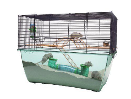 Savic Habitat Xl Navy Blue Gerbil Cage 70 X 37 X 52 Cm Hamster