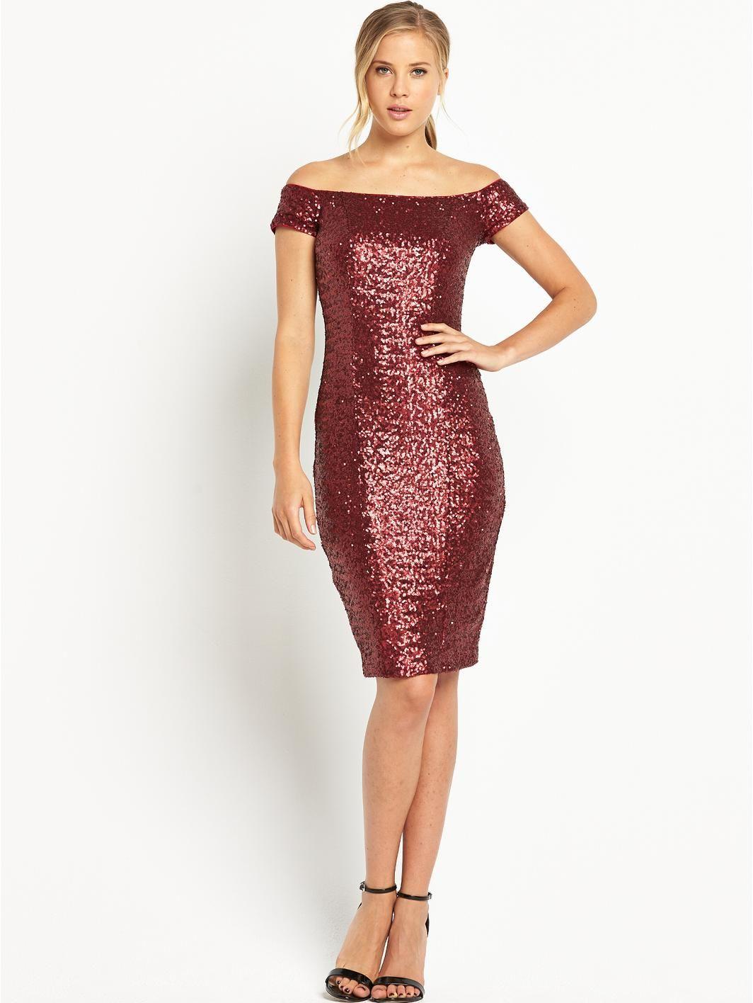 Definition Sequin Bandau Red Wine Color Short Dress With Black Shoes Dresses Fashion Clothes For Women [ 1416 x 1064 Pixel ]