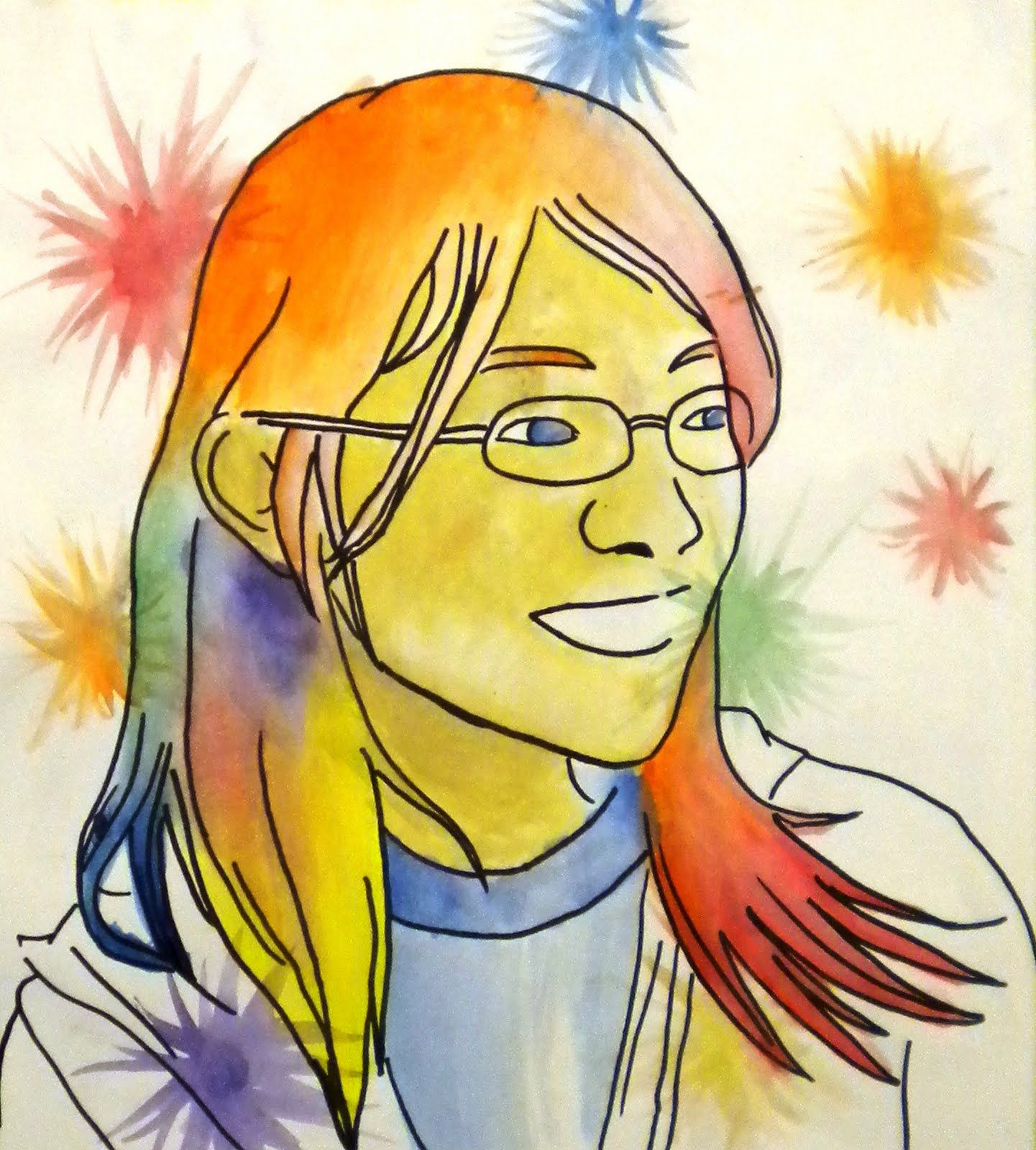 For The Love Of Art 6th Grade Pop Art Self Portraits