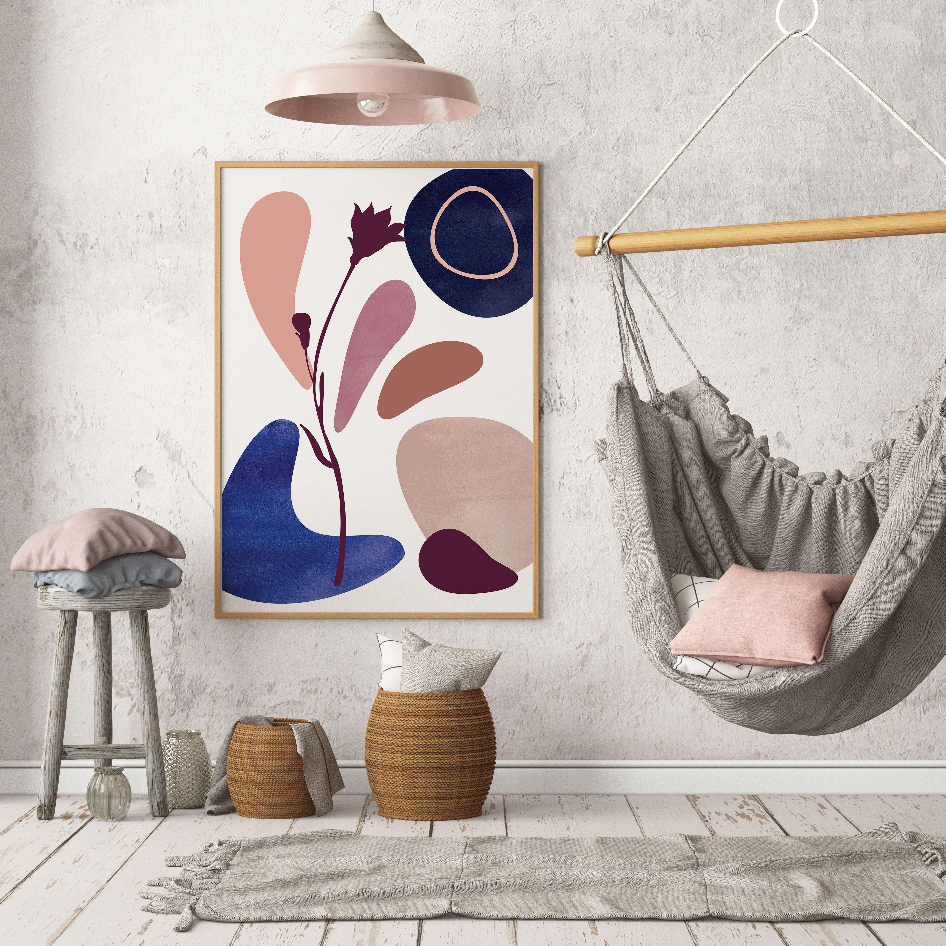 Mid Century Modern Wall Art, Abstract Art Print, Geometric ...