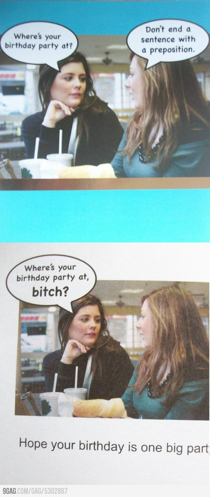 Perfect Birthday Card for English Teachers Funny